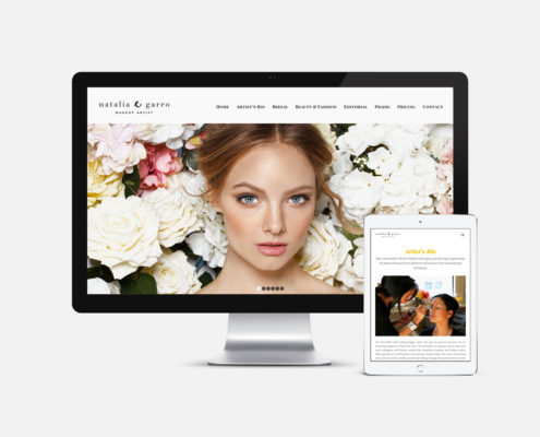 Makeup Artist Website Design: Natalia Garro