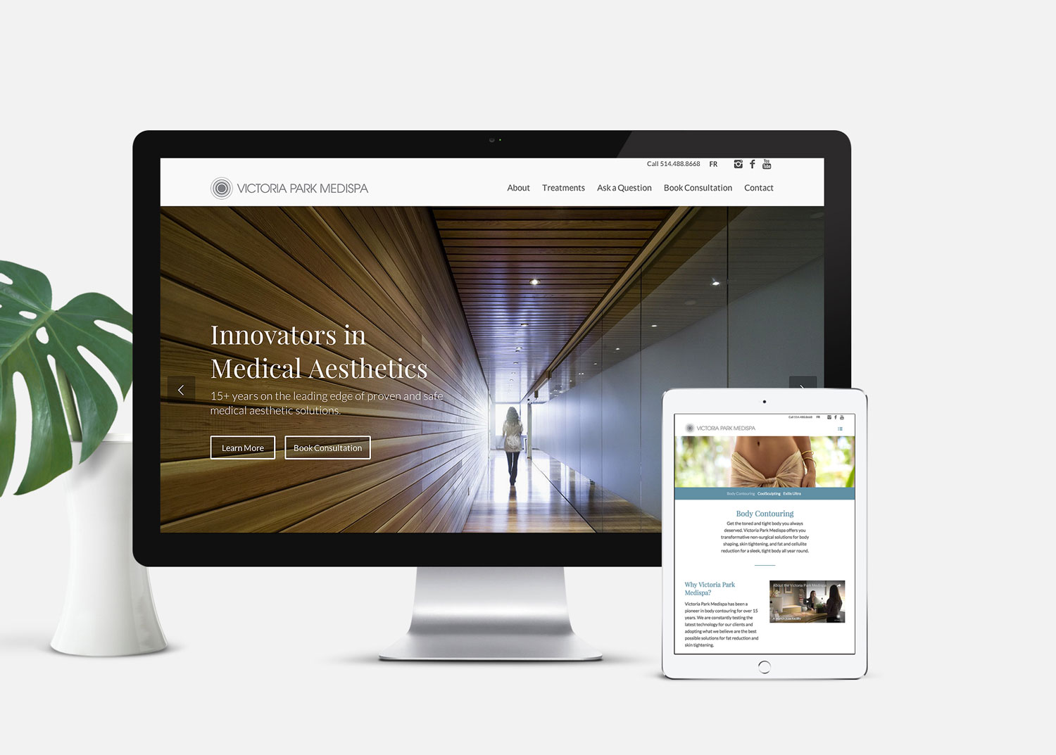 Medical Spa Website Design: Victoria Park Medispa