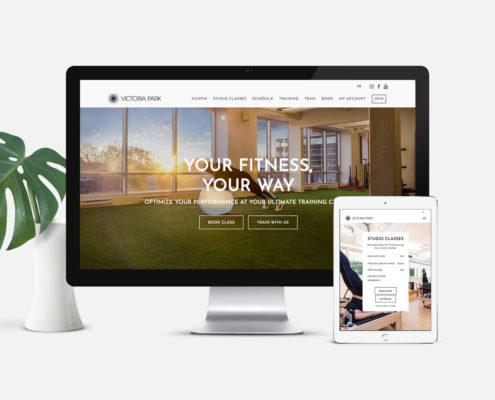 Fitness Website Design: Victoria Park Fitness