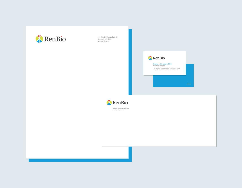 Biotech Branding, Logo Design and Stationery Design: RenBio