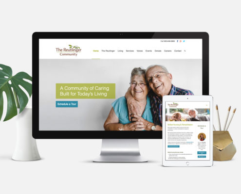 Senior Living Community Website Design: The Reutlinger